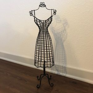 Black Dress Form Jewelry Holder